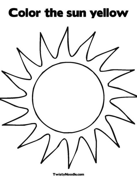 coloring pages for yellow sun template to print image search results