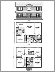 Two Story House Plan by Beautiful 2 Story House Plans With Level Floor Plan