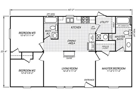 24x40 house plans 24x40 mobile home floor plans home decor ideas
