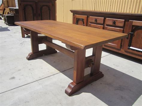 Rustic Trestle Dining Room Tables Antique Rustic Trestle Table Dining Table Antique Furniture Let S Make A Table