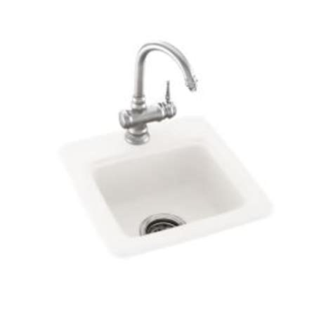 swan dual mount composite 15 in 1 bar sink in white