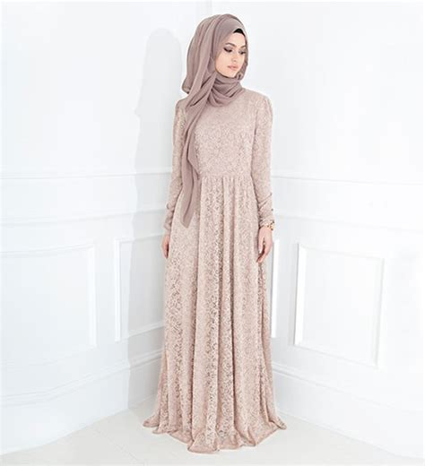 Dress Muslim Inayah blush lace gown 163 89 99 inayah islamic clothing