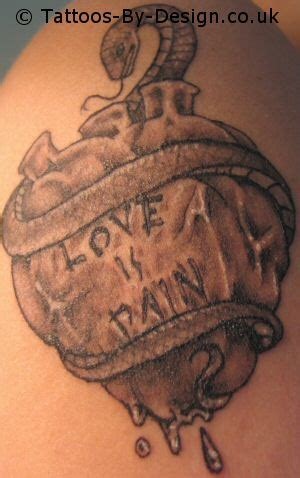 love is pain tattoos is