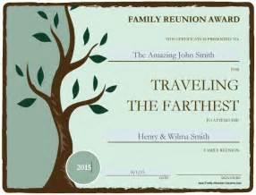 family reunion templates free printable awards for the family reunion