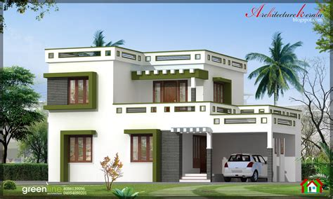 Floor Plans Narrow Lot by Architecture Kerala 3 Bhk New Modern Style Kerala Home