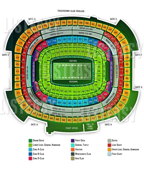 redskins seating chart news and entertainment fedex field jan 04 2013 21 52 05