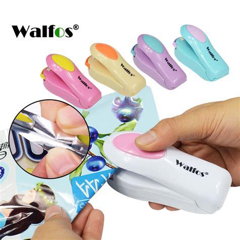Mini Sealer Plastik Wrap walfos vacuum food sealer mini portable heat sealing machine impulse bag sealer seal machine