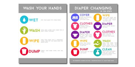 printable area change 11 best images of charts for day care diaper diaper