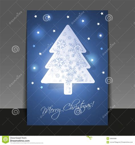 Christmas Card Template Stock Vector Image Of Cheerful 33850088 2015 Flyer Card Template
