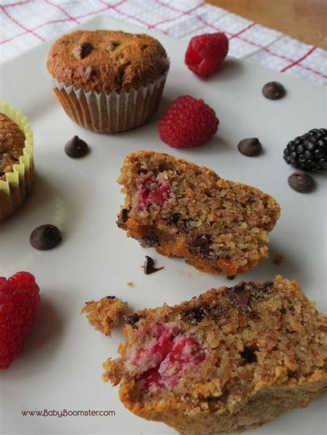 Healthy Detox Muffins by No Flour Muffins With Chocolate And Berries Recipe