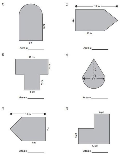 Area Of Compound Shapes Worksheet by Common Worksheets Area Of Composite Figures Worksheet