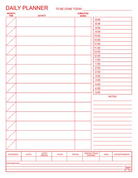 daily planner template access daily planner