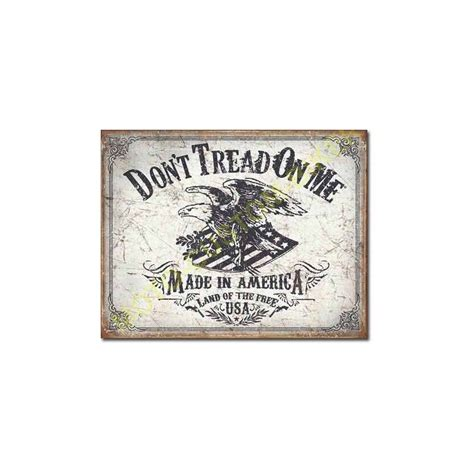 plaque metal decorative land of the free motocustombiker
