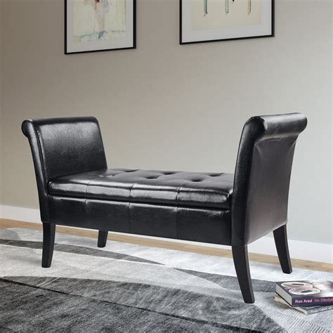 black bedroom bench corliving antonio bench with rolled arms black bedroom