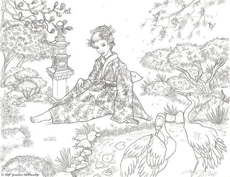japanese garden coloring page 113 best coloring pages images on pinterest coloring