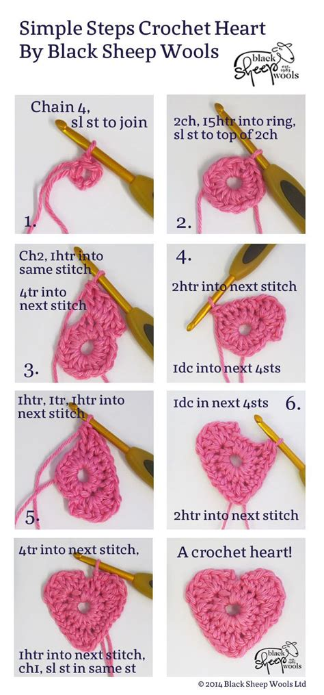 how to knit step by step best 25 crochet hearts ideas on