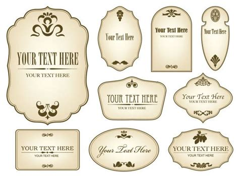 Free Decorative Label Templates Simple Bottle Label 01 Vector Other Free Download Liquor Bottle Label Templates Free