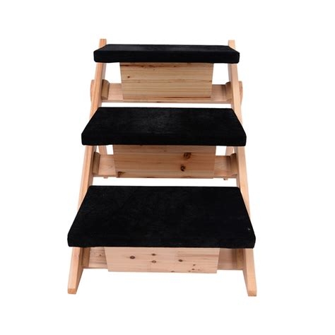 dog ladder for bed pet ladder dog stairs steps r wooden cat animal bed