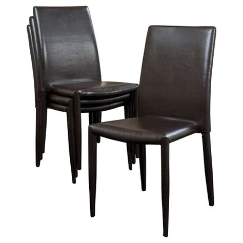 comstock bonded leather stackable dining chair w target