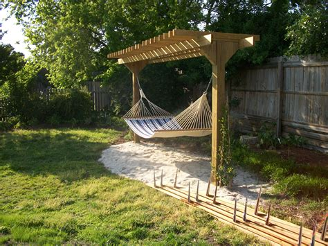 Pergola With Hammock Backyard Ideas Pinterest Pergolas Hammock Ideas Backyard