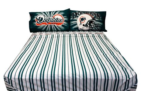 Miami Dolphins Bed Set Nfl Football Miami Dolphins Bed Sheet Set 4pc Bedding Sheets Set Size