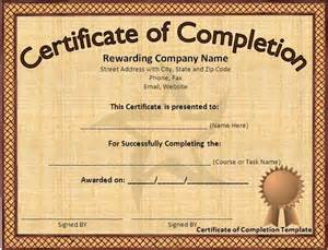 Microsoft Word Certificate Of Completion Template Award Certificate Template Microsoft Word Download