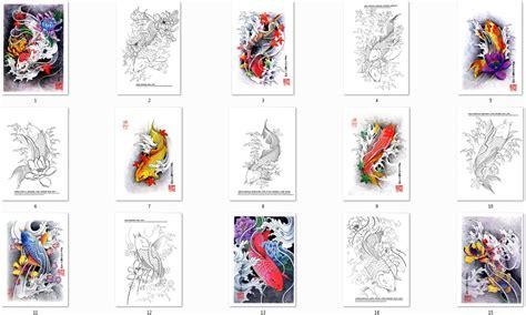 japanische koi tattoo vorlagen china tattoo vorlagen flash book buch koi t 228 towierungen