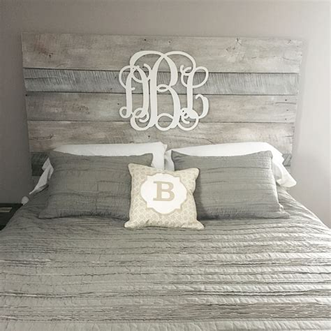 white wood headboard white washed barnwood headboard with gray accents