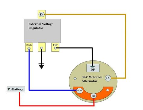 wiring diagram also ford external voltage regulator