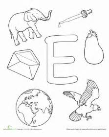 colors starting with e coloring e is for worksheet education