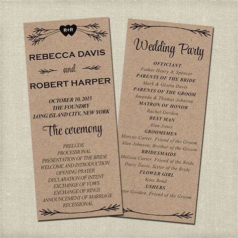 Best 25 Wedding Program Templates Ideas On Pinterest Fan Wedding Programs Program Template Free Rustic Wedding Program Templates