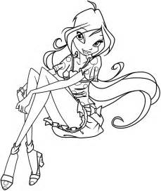 winx club bloom enchantix free coloring pages art coloring pages
