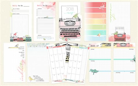 planner pages 2018 may 2018 ring bound personal sized planner pages only