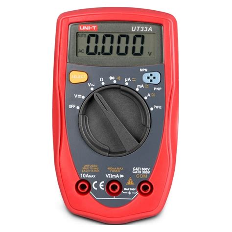 test bipolar transistor with multimeter uni t ut33a palm size digital mini auto range multimeter diode transistor ac dc current voltage