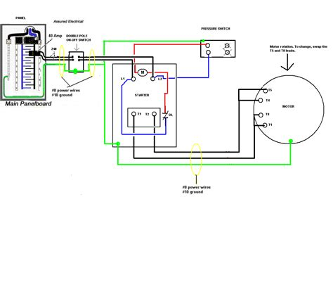 magnetic motor starter wiring diagram for compressor