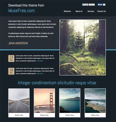 free muse templates 1000 images about adobe muse free themes on