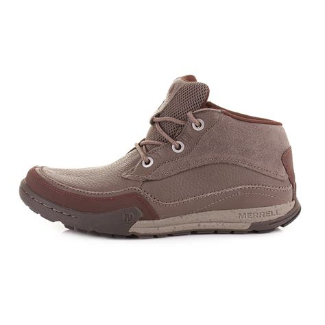 mens merrell mountain kicks falcon brown leather walking