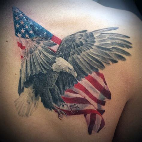 american flag chest tattoo american flag bird tattoos for guys tattoos