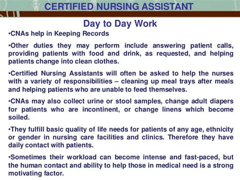 of a certified nursing assistant in the us