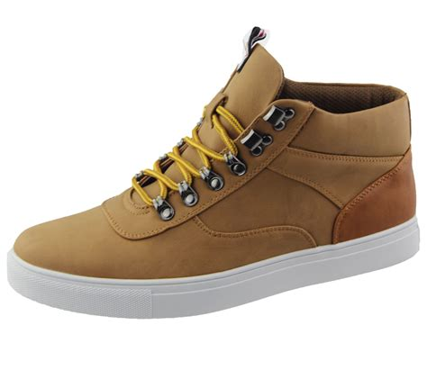 mens high heels size 9 mens lace up boots combat hiking work high top ankle shoes