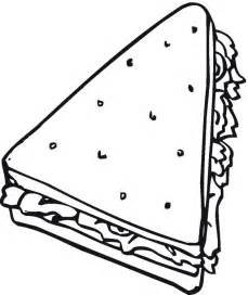 Sandwich Coloring Pages free bread cereal coloring pages