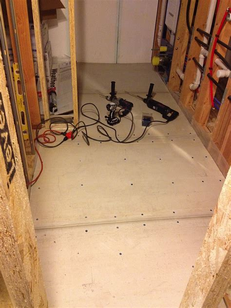 Cement Board For Bathroom Floor by Flooring 171 Mod Remod