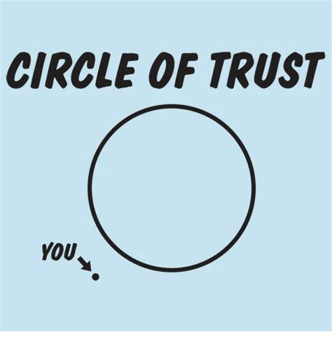 Circle Of Trust Meme - circle of trust you meme on sizzle