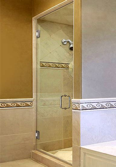 Single Glass Shower Door Shower Doors Custom Glass Shower Doors And Enclosures
