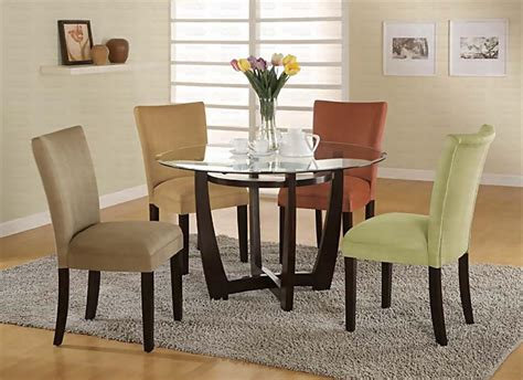 modern glass dining room sets modern round dining room set casual dinette sets