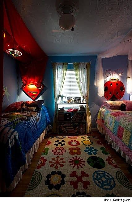 superman bedroom twin girls who love superman and butterflies respectively