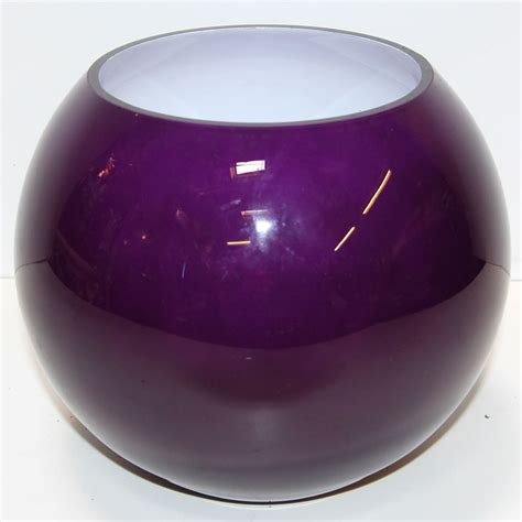 Purple Vases And Bowls Globe Bowl Purple Glass Vase Ten And A Half Thousand Things