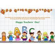 Happy Teachers Day Quotes Cartoon Kids Wallpaper