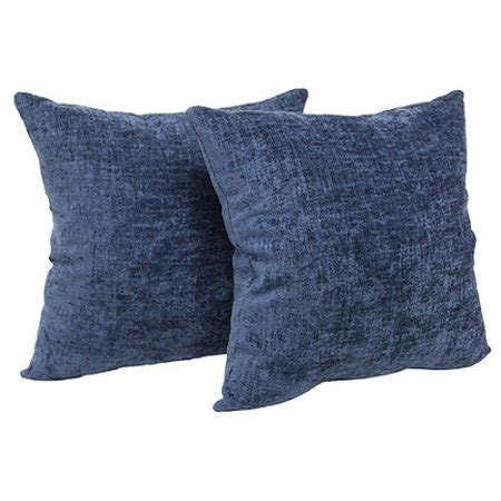 Sofa Pillows Walmart Mainstays Chenille Decorative Throw Pillow Set 2pk Navy Walmart