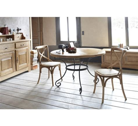 table ronde chene table ronde chene massif fer 3845